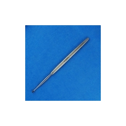 Fox Oval Dermal Curette 1mm, 14.5cm / 5 1/2""