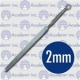 Fox Round Dermal Curette - 2mm, 14cm/ 5 1/2""