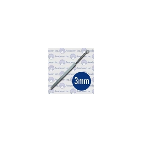 Fox Round Dermal Curette - 3mm, 14cm/ 5 1/2""
