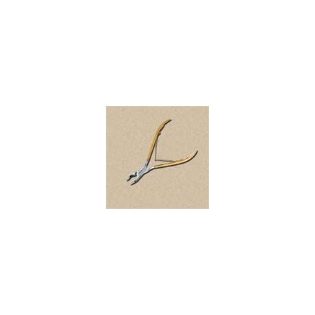 """Cuticle Nipper - Gold Handle Single Spring Concave Jaws 10.5cm/4"""""""